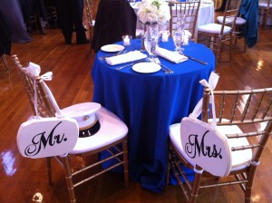 His & Hers.  A Marine Wedding